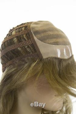 Perruques Long, Luxe, Qualité Supérieure Humaine Cheveux Raides Monofilament Mains Liées