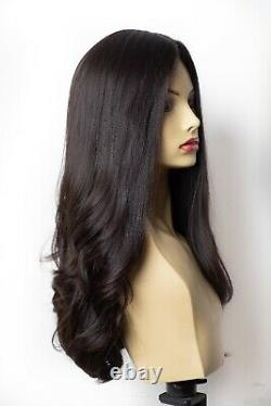 Perruques Yaffa De Qualité La Plus Fine Brun Foncé 100% Virgin Humain Cheveux Européens