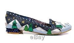 Polka Irregular Choice Nouveau Binksy Portent Des Chaussures De Ballet De Paillettes Bleu Marine Foncé 3-9