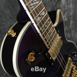 Qualité 1959 R9 Dark Purple Tiger Flame Lp Guitare Électrique Livraison Gratuite
