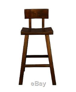 Qualité À La Main En Bois Massif Brun Foncé Couleur Grande Forme A Tabouret De Bar Wk2170