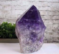 Qualité Aaa Gigantesque Pointe D'améthyste Cristal Pourpre Foncé 19,15 Lb (ap19) E
