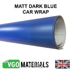 Qualité Dark Blue Matt Vinyl Auto Moto Véhicule Wrap Dégonflage Cw3330