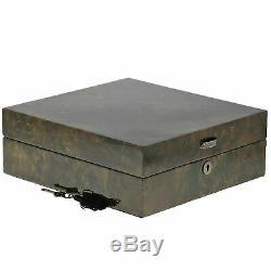 Qualité Haut De Gamme Noir Burl Bois Montres Collectors Box Pour 12 Montres Solid LI