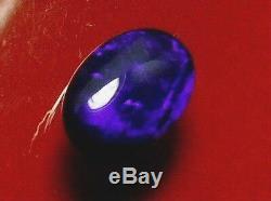Quality Gorgeous Dark Purple-blue Couleur Natural Solid Black Opal 1.38 Carat