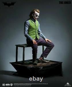Queen Studio Dark Knight Heath Ledger Joker Statue Rooted Hair Sideshow Prime 1