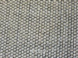 Revêtement De Tissu Rideau Ameublement Tapisserie Chenille Qualité Argent Gris Foncé Tweed