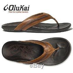 Sandales Olukai Mea Ola Tan En Cuir Java Foncé, De Qualité Supérieure, De Qualité Supérieure 8 9 10 11 12