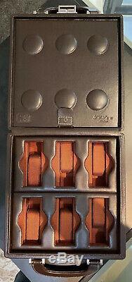 Scatola Del Tempo 12 Porte-montre Brun Foncé De Haute Qualité Lettre