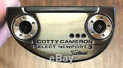 Scotty Cameron Newport 2018 Sélectionnez 3 Putter Nouveau Lh Xtreme Noir Terminer -ihv