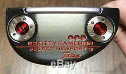 Scotty Cameron Newport 2018 Sélectionnez 3 Putter Nouveau Rh Xtreme Noir Terminer -vcc