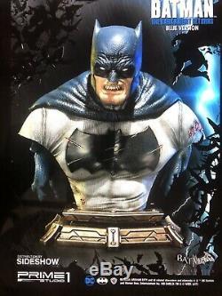 Sideshow Premier Studio One Batman The Dark Knight Bust Sdcc 2017 Version Bleu Nib