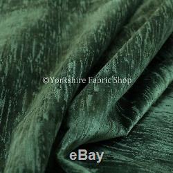 Tissu D'ameublement De Rideaux De Velours Vert Foncé Texturé Doux De Qualité