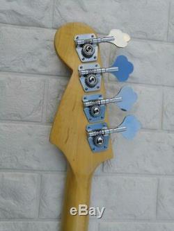 Top Qualité Guitare Basse Électrique Jazz Bass Dark Green 4 Cordes Active Micros