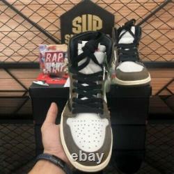 Top Qualité Travis Scott X Air 1s Dark Mocha Hommes Femmes Basketball Chaussures De Sport