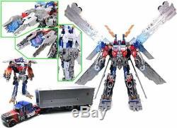 Tout Nouveau Transformateur Hasbro Ultimate Optimus Prime Noir De La Lune En 3 Modes