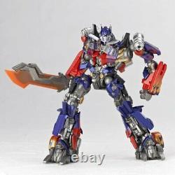 Transformateurs Revoltech Black Side Moon Optimus Prime Jetwing Figure Équipée