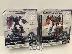 Transformers Prime Noir Energon Voyager Megatron Et Optimus Prime New Sealed