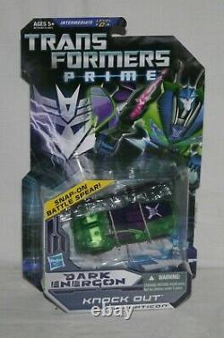 Transformers Prime Sombre Energon Bumblebee Wheeljack Starscream Assommer Mosc