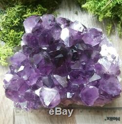 Très Grand Cristal D'améthyste Foncé Uruguay Amethyst Geode. Haute Qualité (l26)