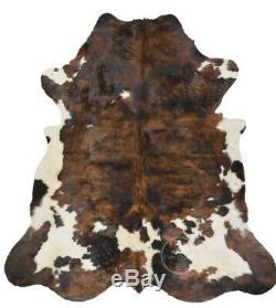 Vache Rug Noir Brindle Tricolor, De Haute Qualité, Cheveux Sur Hide, Jumbo (xl), Pc610