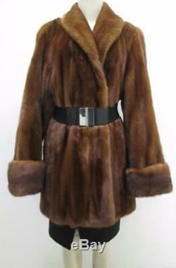 Vente New American Quality Assombrissaient Whisky Mink Coat Veste Taille 12 Valeur 12k