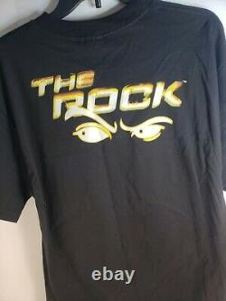 Vintage 1999 Wwf The Rock The Peoples Choice Glow In Dark T-shirt Adulte Grand