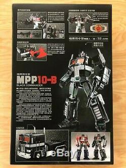 Weijiang Chef-d'œuvre Transformateurs Surdimensionné En Alliage Noir Mpp-10b Optimus Prime
