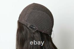 Yaffa Perruques Meilleure Qualité À Long Brun Foncé Droit 100% Cheveux
