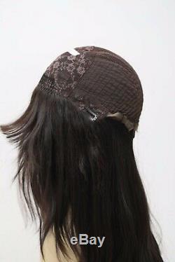 Yaffa Perruques Meilleure Qualité À Long Cheveux Brun Foncé 100% Vierge Cheveux Européenne