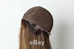 Yaffa Perruques Meilleure Qualité Brown Roots Withhighlights Foncé Longues 100% Cheveux