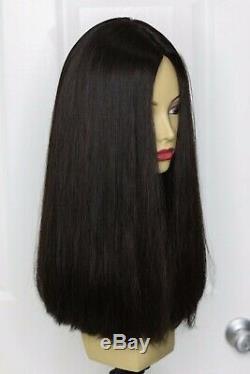 Yaffa Perruques Meilleure Qualité Cheveux Longs Brun Foncé 100% Vierge Human Hair Européenne